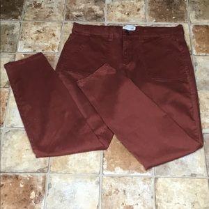 Mudd Skinny FLX Stretch Rust Colored Capris 13 Jr